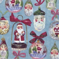 Servietten 33x33 cm - CHRISTMAS DECORATION blue