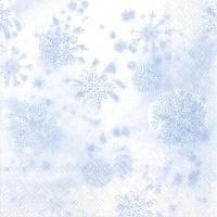 Servietten 33x33 cm - CRYSTALS light blue