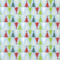 Servietten 33x33 cm - TREES IN LINE light blue