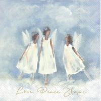 Servietten 33x33 cm - LOVE PEACE HOPE