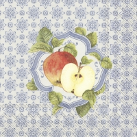 Servietten 33x33 cm - FALL MEDALLION blue