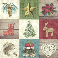 Servietten 33x33 cm - X-MAS DECORATION