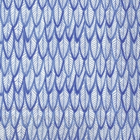 Servietten 33x33 cm - BLUE FEATHERS blue