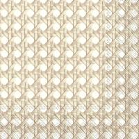 Servietten 33x33 cm - GEFLECHT white