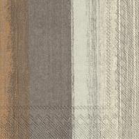 Servietten 33x33 cm - SARINA brown