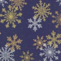 Servietten 33x33 cm - CRYSTAL CLEAR dark blue