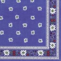 Servietten 33x33 cm - Edelweiss blau