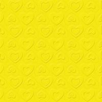Servietten 33x33 cm - CARINO UNI gelb