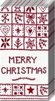 Taschentücher MERRY CHRISTMAS white