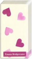 Taschentücher - Rosa Herzen