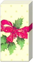 Taschentücher - CHRISTMAS BOW creme