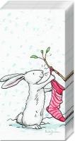 Taschentücher CHARMING SNOW RABBITS