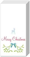 Taschentücher SWEET MERRY CHRISTMAS wh. blue