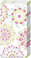 Taschentücher - LILLY weiß weiß rosa