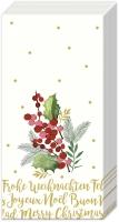 Taschentücher - MERRY CHRISTMAS cream