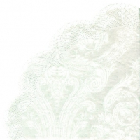 Servietten - Rund Grandeur white