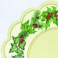 Servietten - Rund CHRISTMAS GARLAND cream