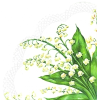 Servietten - Rund - FESTIVE MAY white