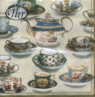 Servietten 33x33 cm - Five o´clock tea cream