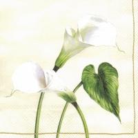 Servietten 33x33 cm - Arum Lily cream