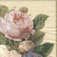 Servietten 33x33 cm - FAIRY ROSE cream
