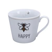 Porzellan-Tasse -  Be Happy