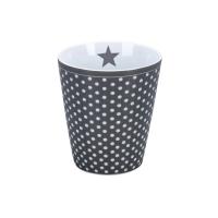 Porzellan-Becher -  Micro dots  Charcoal