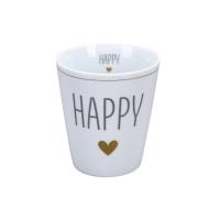 Porzellan-Becher -  Happy