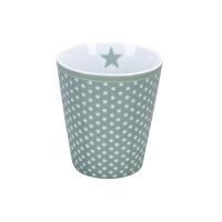 Porzellan-Becher -  Micro dots  Dusty green