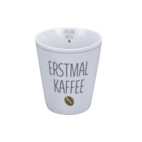 Porzellan-Becher -  Erstmal Kaffee