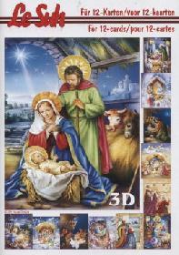3D Bogen Buch Weihnachtskrippe - Format A5