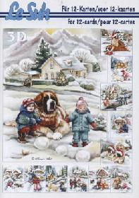 3D Bogen Buch Weihnachten im Schnee - Format A5