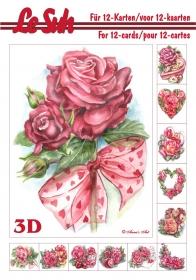 3D Bogen Buch Rosen Format A5