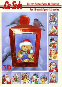 3D Bogen Buch Weihnachtsfiguren - Format A5
