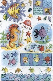 Poesiebilder Foliendruck - Meeres Tiere