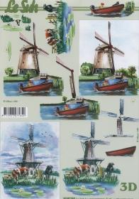 3D Bogen Windm?hlen Format A4
