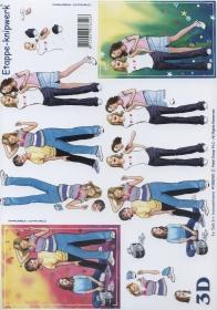 3D Bogen Format A4 - Mädchen