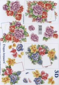3D Bogen Blumen mit Karte Format A4