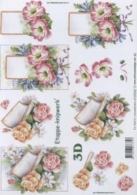 3D Bogen Blumen mit Brief Format A4
