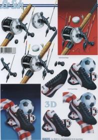 3D Bogen Fussball+Angeln Format A4