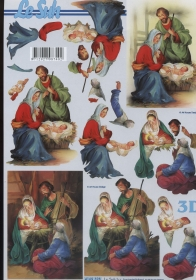 3D Bogen Maria und Josef Format A4