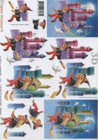 3D Bogen Hexen+Zauberer Format A4