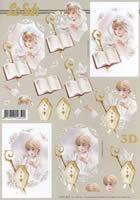 3D Bogen - Format A4 M?dchen+Junge Kommunion