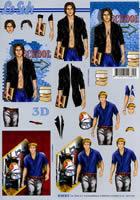 3D Bogen Format A4 Männer