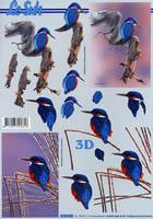 3D Bogen Format A4 Eisvogel