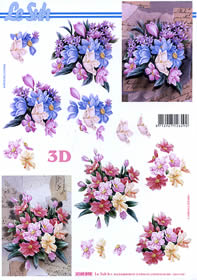 3D Bogen Blumenstrauß Format A4