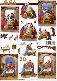 3D Bogen Weihnachtskrippe Format A4