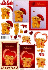 3D Bogen Format A4 - Valentinstag