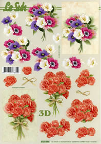 3D Bogen Blumenstauß +Roenstrauß Format A4