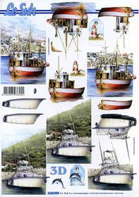 3D Bogen Schiffe - Format A4